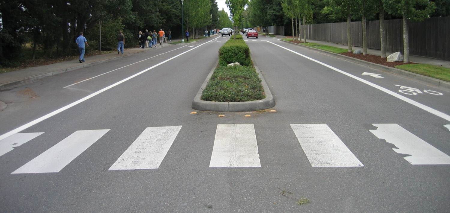 Road median design